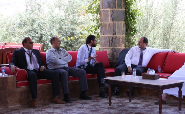 اجتماع فريق تطوير استراتيجية دائرة الخدحمات العامة في جبل جيس   jabal jaiss  PSD  strategic development team meeting
